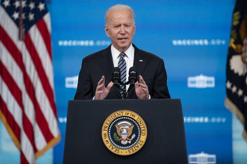 美國總統拜登,攝於12日。124名美軍退將前一天發表聯名公開聲明,指稱總統大選遭到操縱,並質疑拜登的意識能力。美聯社