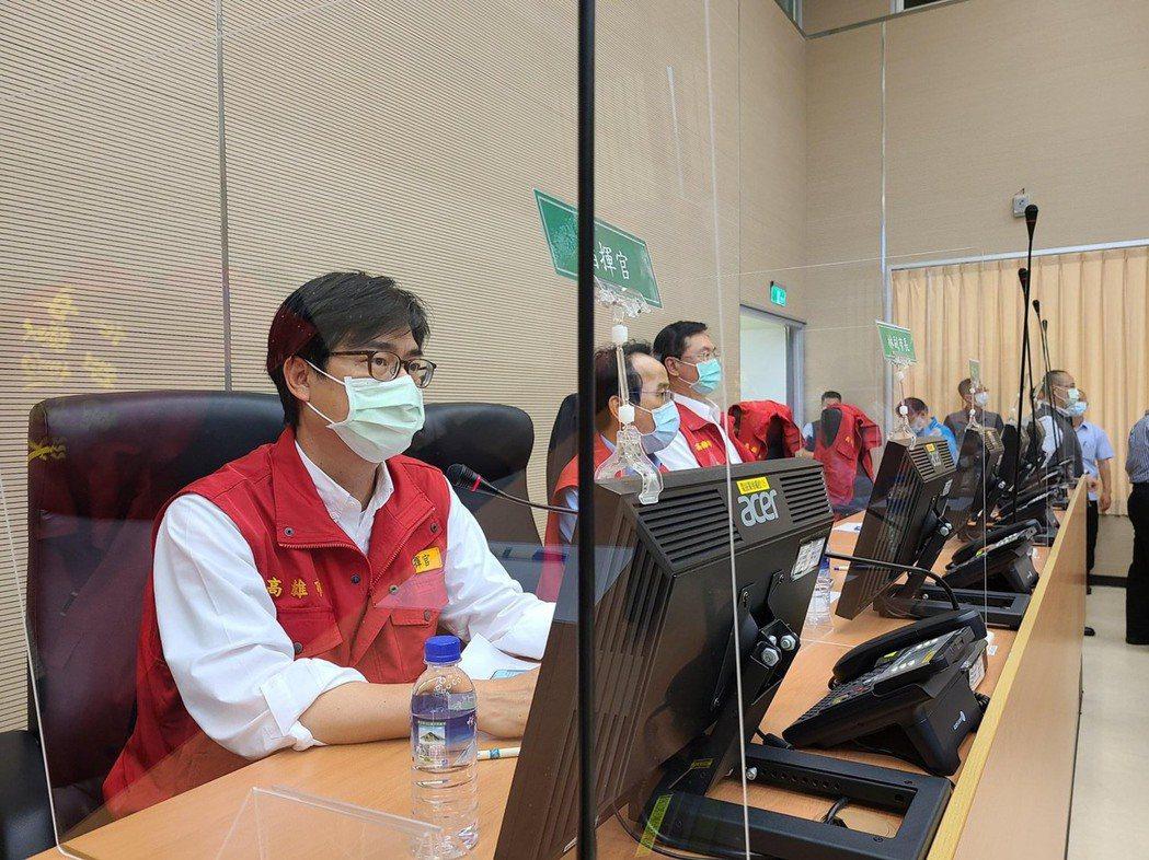高雄市長陳其邁表示,市府已一級開設應變中心,各局處待命中。圖/高雄市政府提供