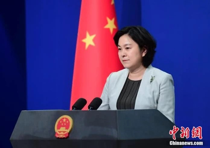 大陸外交部發言人華春瑩。中新社
