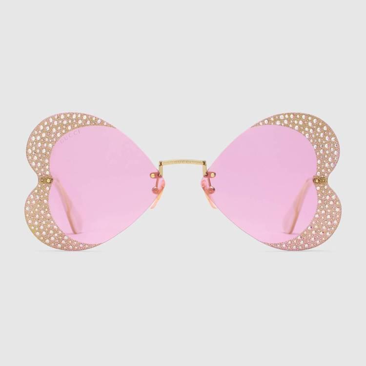 水晶心型太陽眼鏡,39,100元。圖/Gucci提供