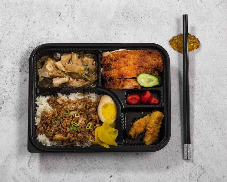香格里拉台北遠東主廚精選餐盒「台灣滷肉飯」。圖/香格里拉台北遠東提供