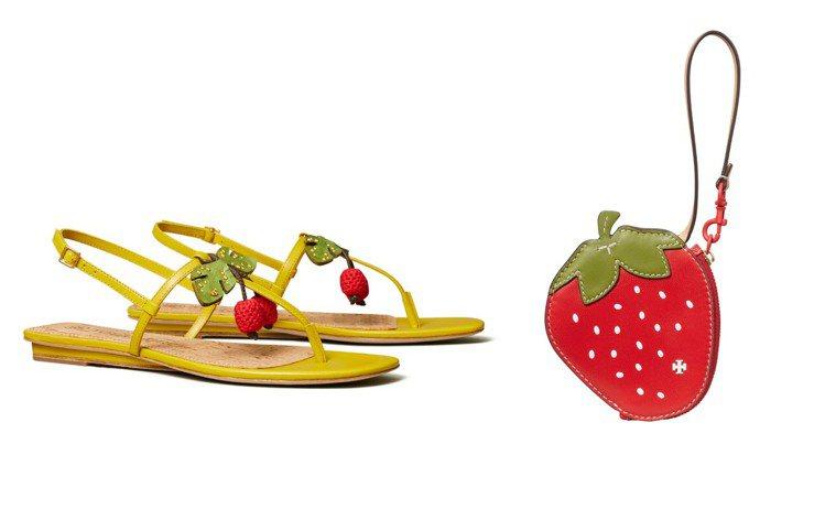 Tory Burch即將上市的2021夏季 / 早秋系列運用了許多水果元素打造鞋...