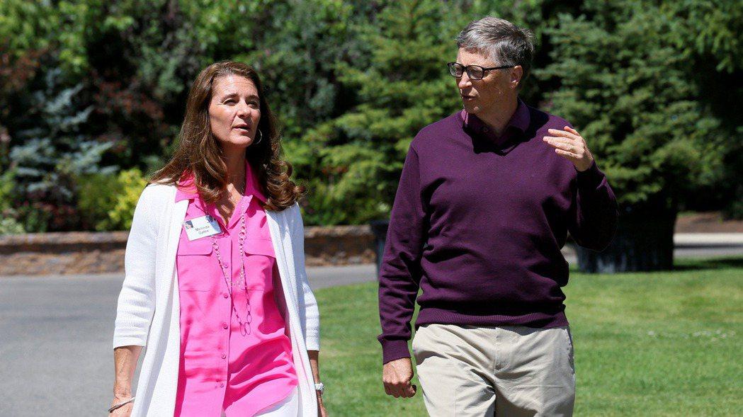 比爾蓋茲與前妻梅琳達。路透