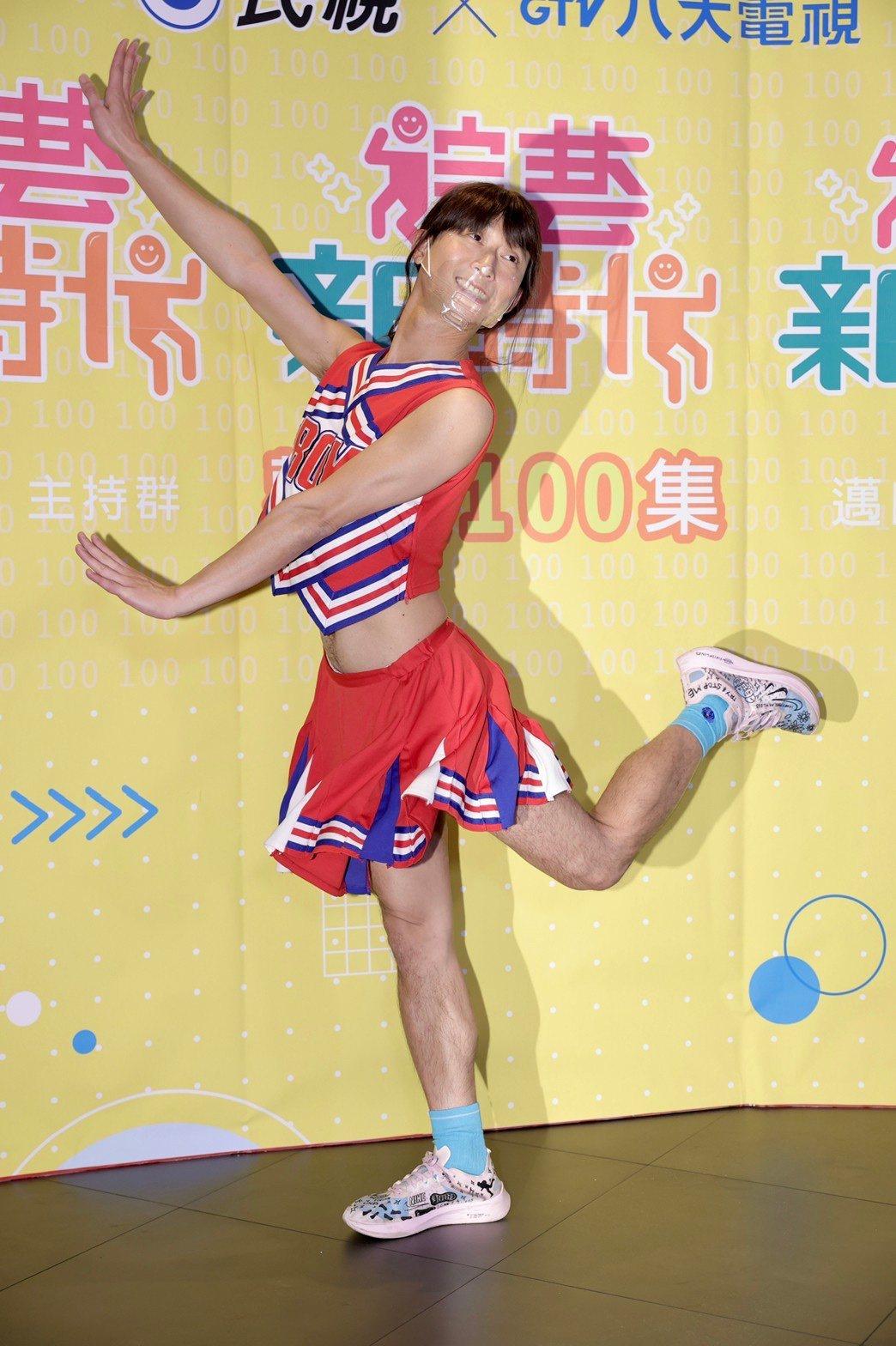 浩子的身材纖細,扮女生有獨特的韻味。記者李政龍/攝影