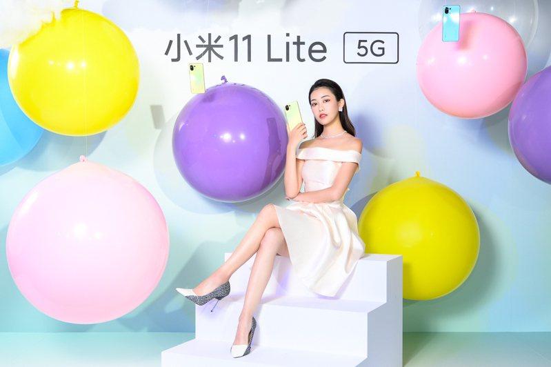 小米11 Lite 5G直播發布會邀請到時尚女神宋蘋恩,分享對於小米11 Lite 5G亮眼外型、強大拍攝功能的愛用心得。圖/小米台灣提供