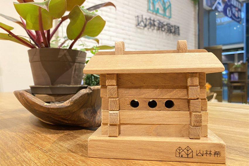 山林希柚木家具消費滿30,000元即贈「柚木小錢屋」一個。 遠雄流通事業/提供