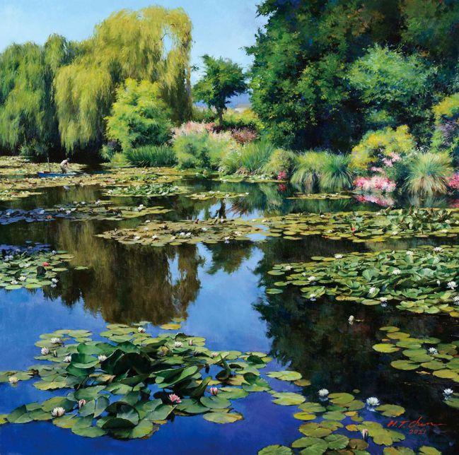 陳輝東〈莫內花園〉。 圖/Talter Taiwan提供