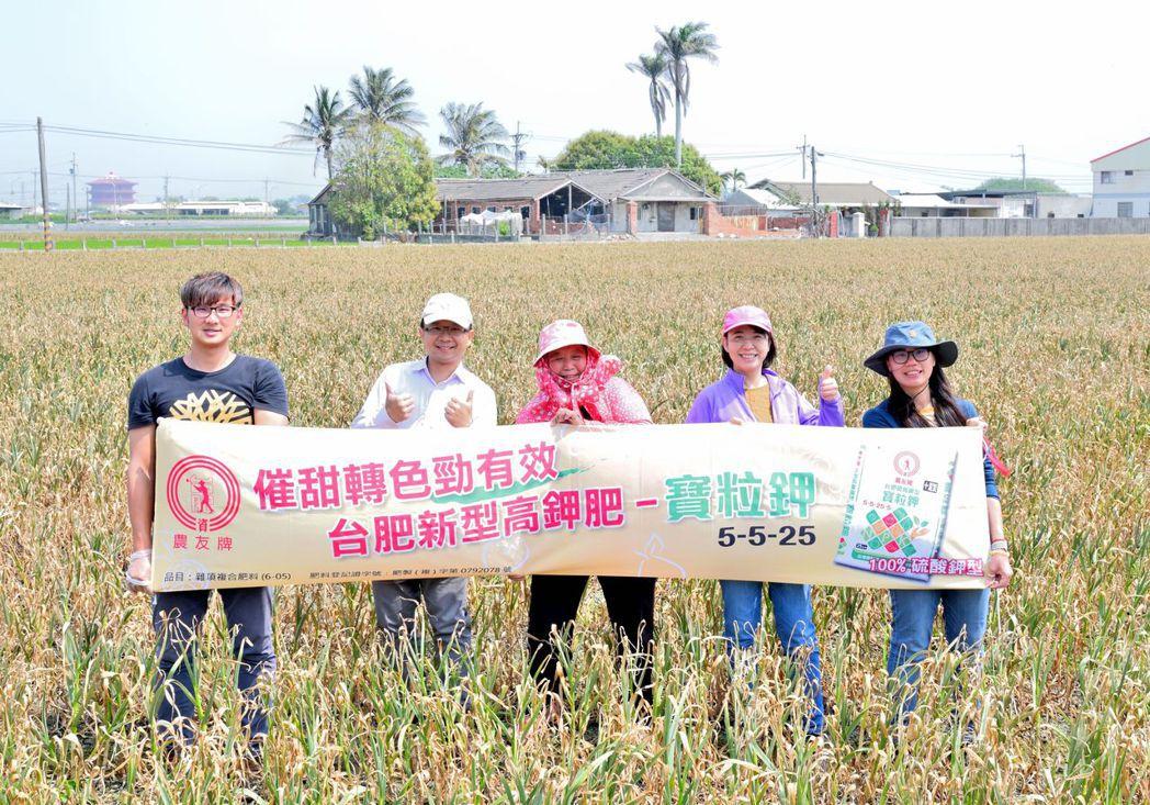 台肥研發團隊與農友進行肥料試驗,成果獲農友肯定 台肥公司/提供