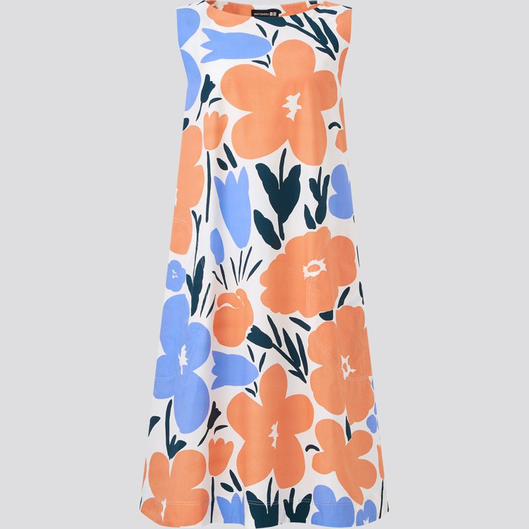 UNIQLO x Marimekko夏季聯名系列A字洋裝1,290元。圖/UNI...