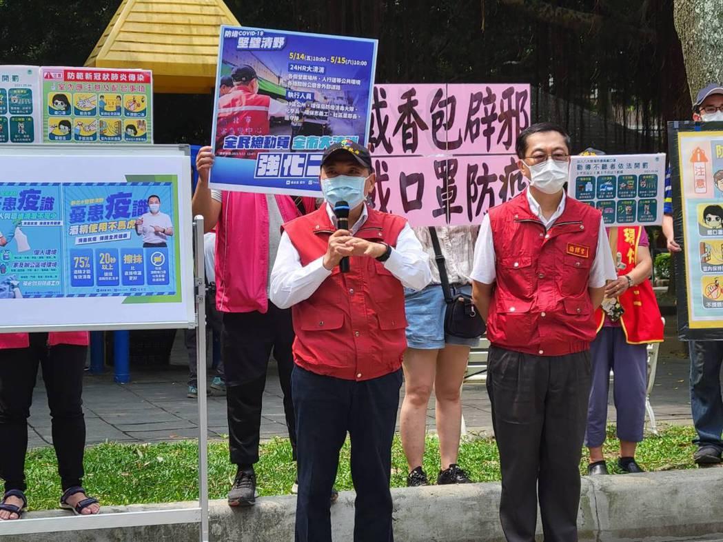 新北市長侯友宜(左)表示,停電非同小可,政府一定要重視,除了把停電原因找出來以外...