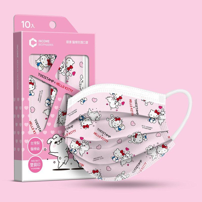 萊爾富今日起在虛實整合的萊購物平台,推出YOSISTAMP X 三麗鷗醫療防護口罩預購。(照片提供:萊爾富)