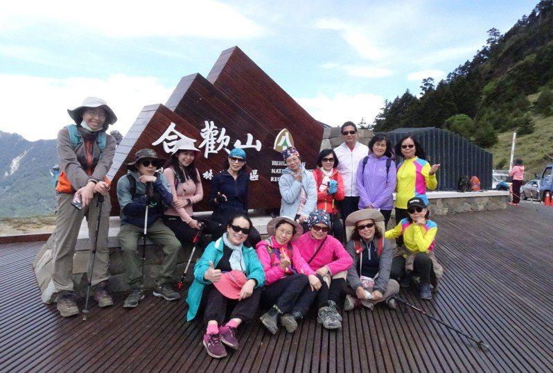 合歡山近來成為為台灣中部高山最熱門旅遊景點,入口意象成為合歡山地區的新標識。圖/東勢林管處提供