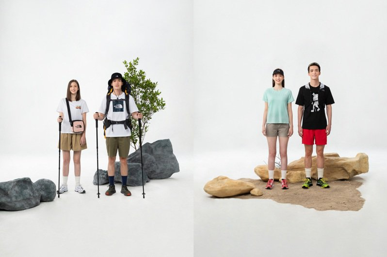 The North Face曝光多達30款以上新品T恤,要消費者在這季穿好穿滿。圖/The North Face提供