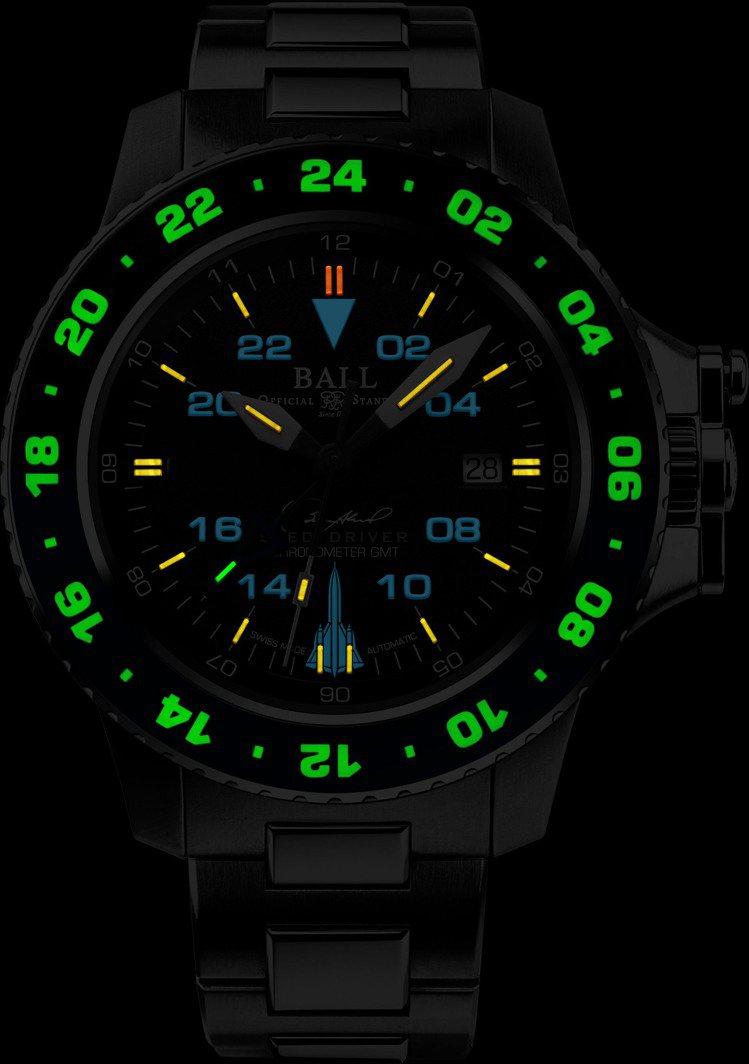 四種顏色顯示三地時區,是Ball Watch天行者腕表的特色之一。圖 / 波爾表...