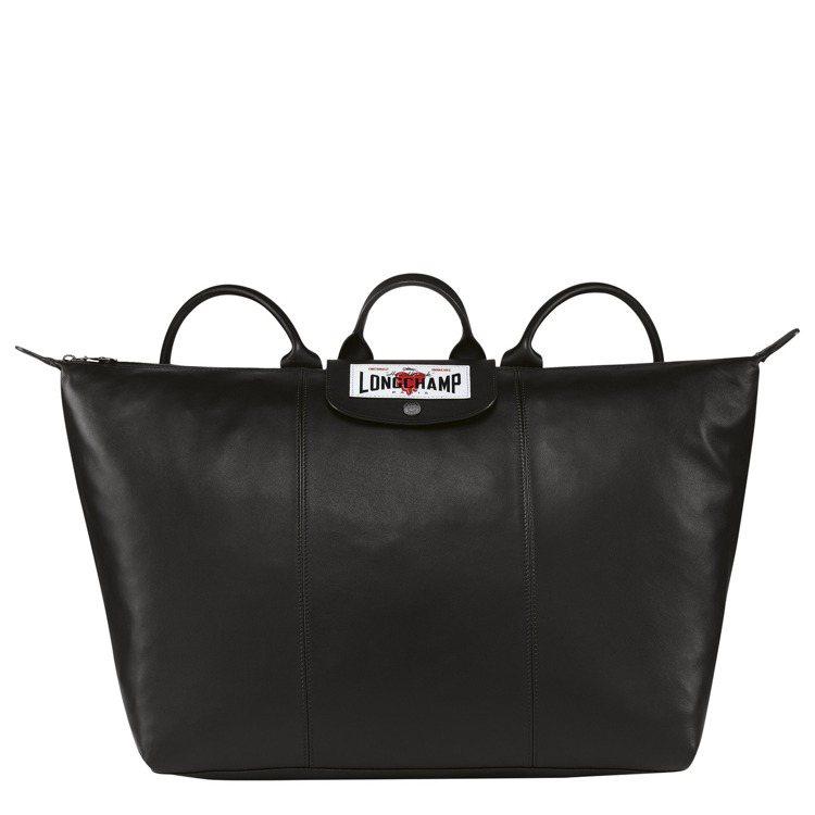 Longchamp x EU系列Le Pliage Cuir可調節式後背包,34...