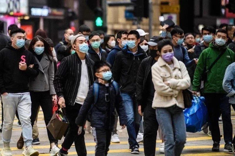 香港街頭。圖/法新社