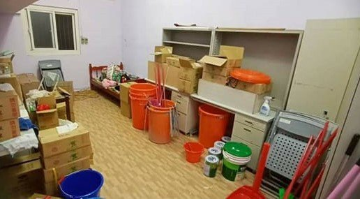 基隆女高中生疑發燒,家長控被關儲藏室隔離。圖/取自爆料公社