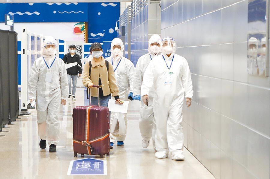 上海宣布對新入境人員實施14天隔離觀察+7天社區健康監測。中新社資料照片
