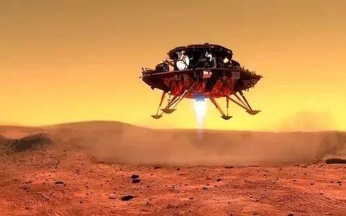 天問一號火星探測器,15日7時18分成功登陸火星。圖:中新網