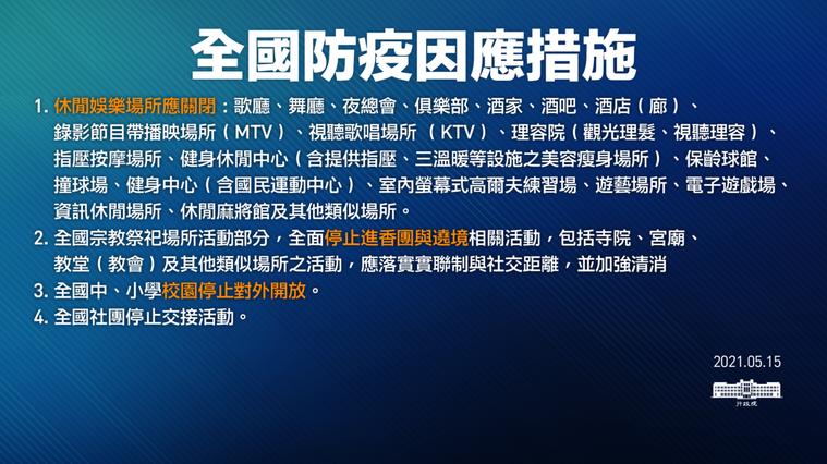行政院發布全國防疫因應措施。圖/行政院提供