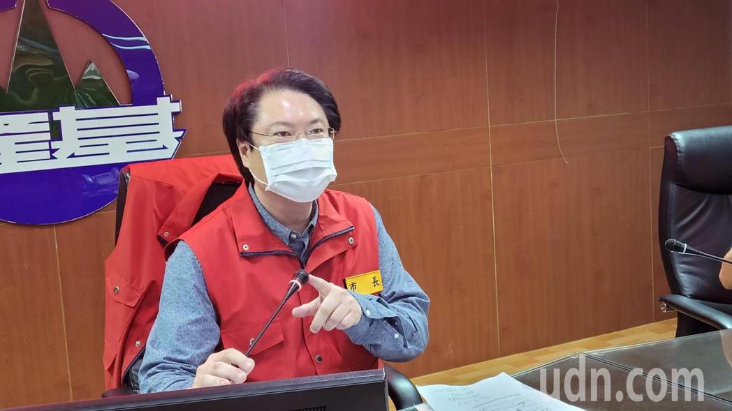 「大家挺住雙北」,林右昌:基隆採等同第三級防疫措施。記者游明煌/攝影