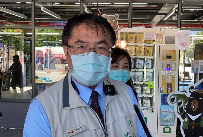 台南市長黃偉哲晚間宣布進入準三級防疫警戒。記者鄭維真/攝影