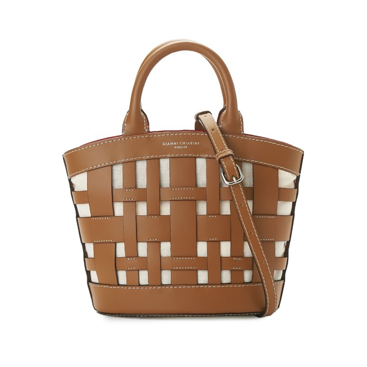 Gianni Chiarini Gea鏤空編織手提包,16,500元。圖/Gia...