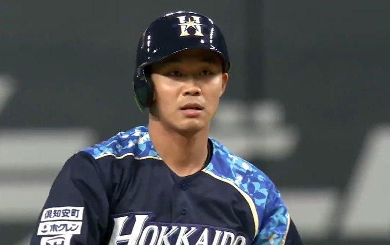 日本火腿隊王柏融。 截圖自Youtube