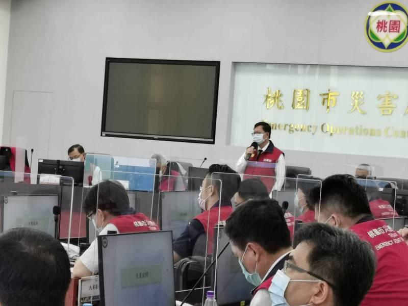 桃園市長鄭文燦今起恢復召開防疫會議。記者曾增勳/攝影