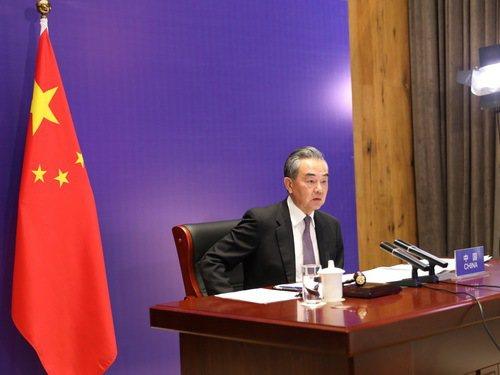 大陸國務委員兼外長王毅主持聯合國安理會以巴衝突問題緊急公開會。大陸外交部官網