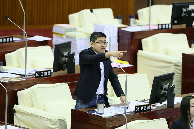 北市議員徐弘庭。圖/徐弘庭辦公室提供