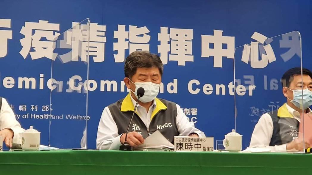 中央流行疫情指揮中心指揮官陳時中。記者/邱宜君攝影