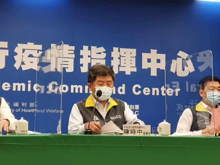 中央流行疫情指揮中心指揮官陳時中(中)。記者楊雅棠/攝影