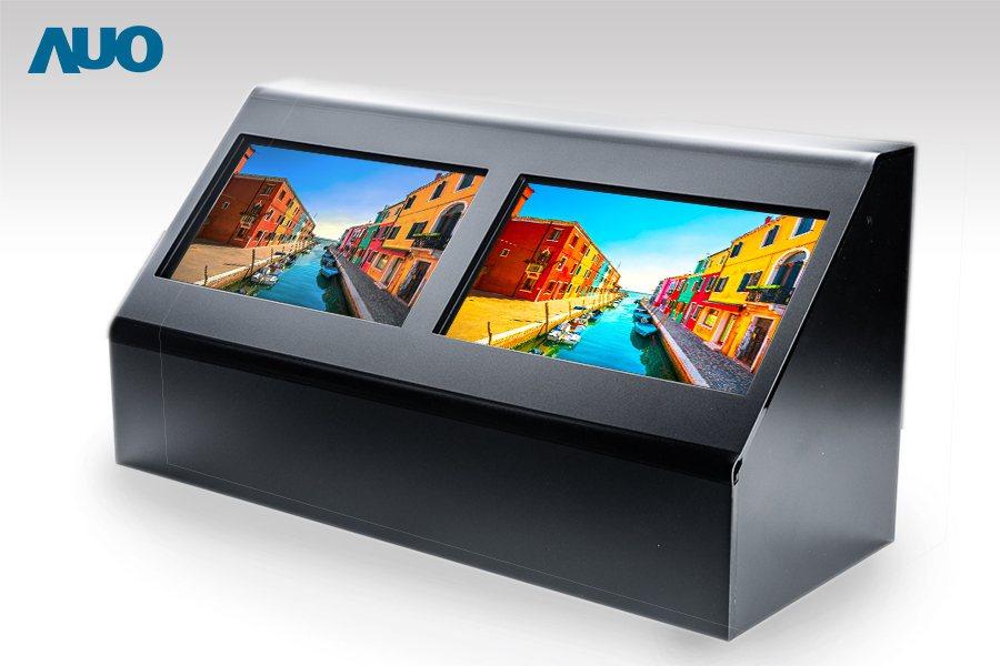 友達10.1吋面板(右)將無機金屬線偏光片整合進 LCD Cell 內部,降低耗...