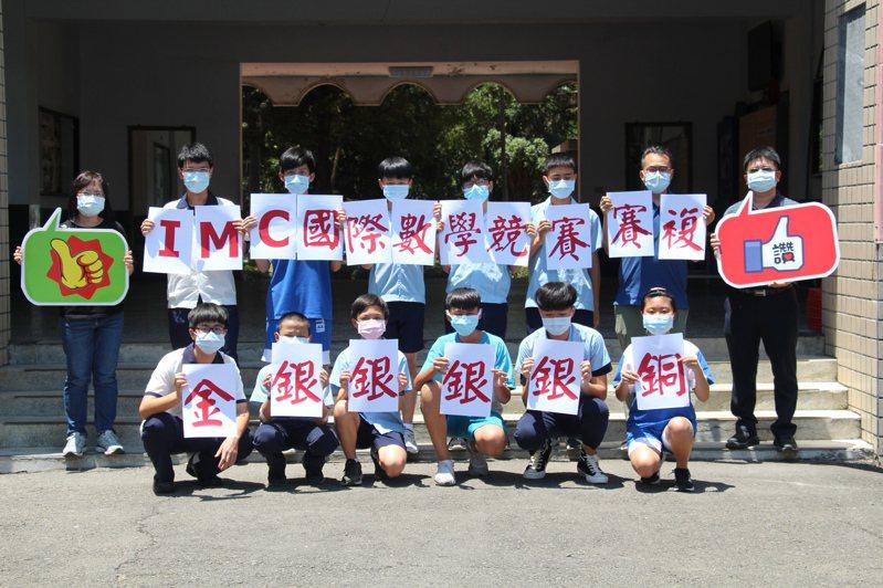 IMC國際數學競賽複賽 南光高中囊括1金4銀1銅5優等。圖/南光高中提供