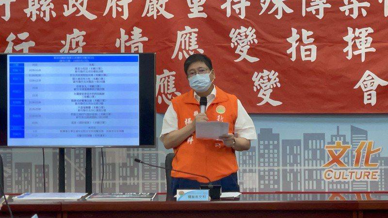 新竹縣長楊文科表示,案2010為40多歲男性,也是昨天公布確診案1588的弟弟。記者陳斯穎/攝影