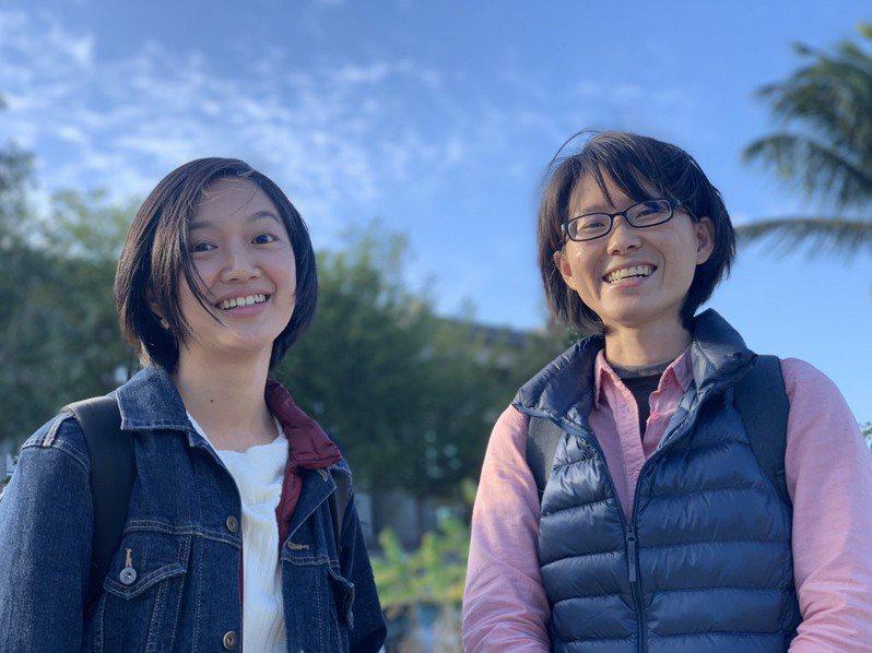 來自台北和台中的林筱菁(左)和廖宜霈,因到成大讀書,留在台南七股十份里小漁村成立「股份魚鄉」,發展食魚教育的跨域事業。記者吳淑玲/攝影