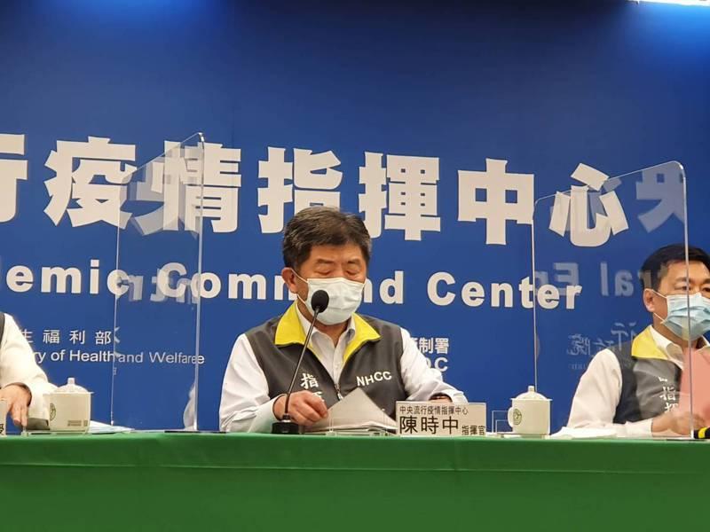 中央流行疫情指揮中心指揮官陳時中。記者楊雅棠/攝影
