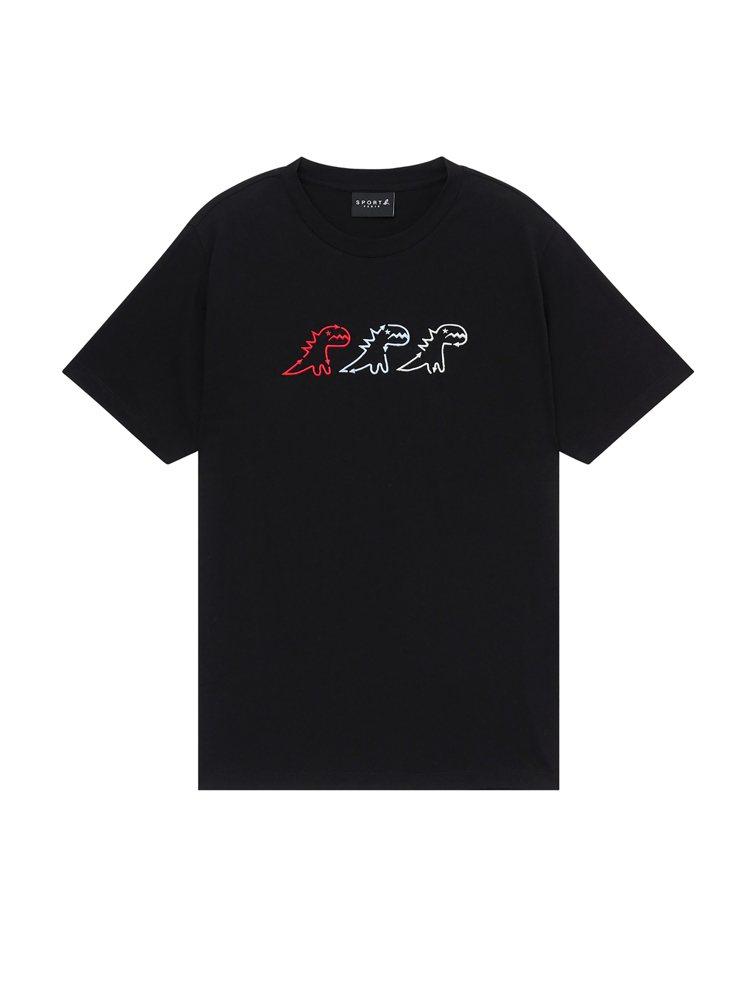 官網獨賣恐龍T恤,2,580元。圖/agnès b.提供