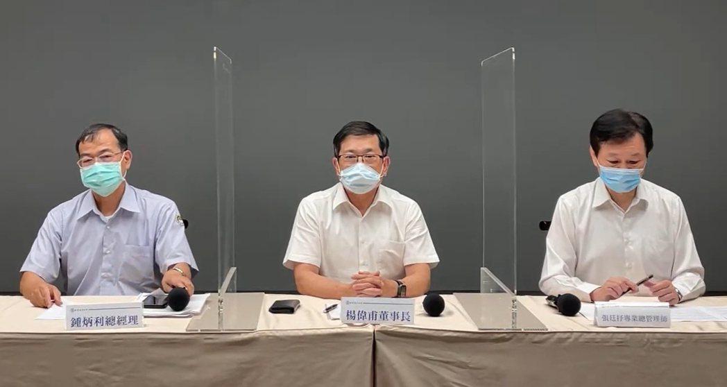 五一三大停電不到一周,台電昨晚又緊急宣布分區限電,台電董事長楊偉甫(中)道歉。圖...