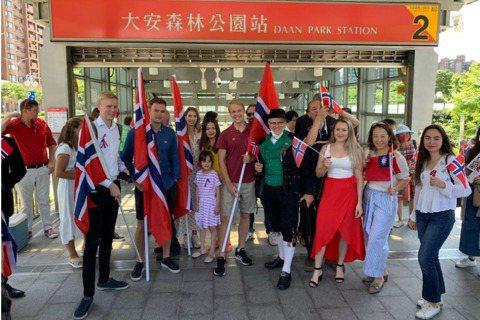 2020年5月舉辦於台北的挪威國慶遊行,是台挪民間交流的一大里程碑。
