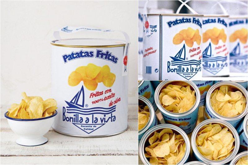 台灣引進Bonilla a la Vista健康款「油漆桶洋芋片」。圖/西班牙油漆桶馬鈴薯片台灣臉書、Bonilla a la Vista官方IG
