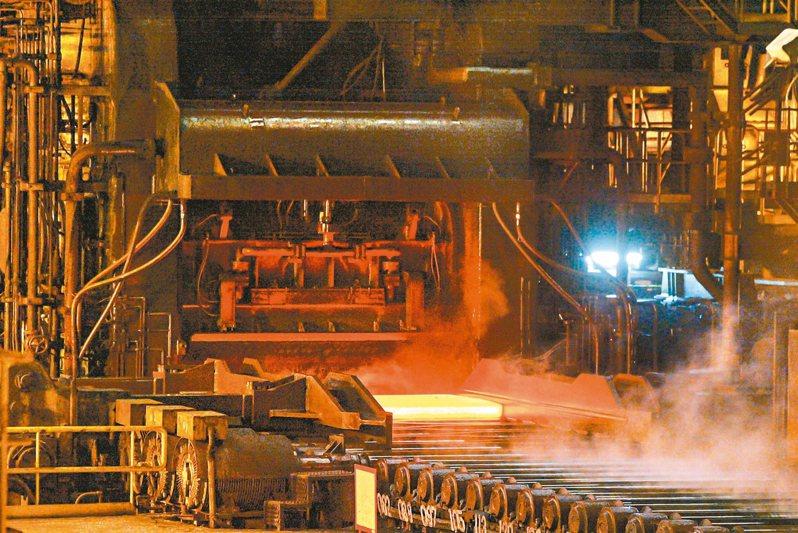 圖為中鋼生產線。聯合報系資料照