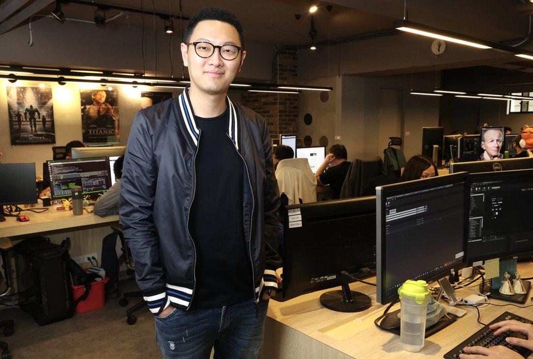 數字王國執行長謝安與他的虛擬世界王國。 記者林俊良/攝影