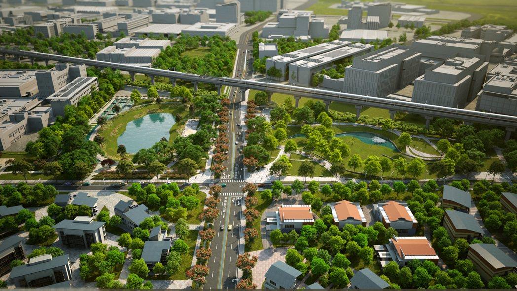 臺南市政府依南科特定區計畫開發F、G區塊區段徵收,為南科產業發展及就業人口,提供...