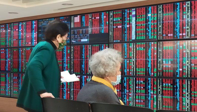 台股今天逆勢大漲。記者林俊良/攝影