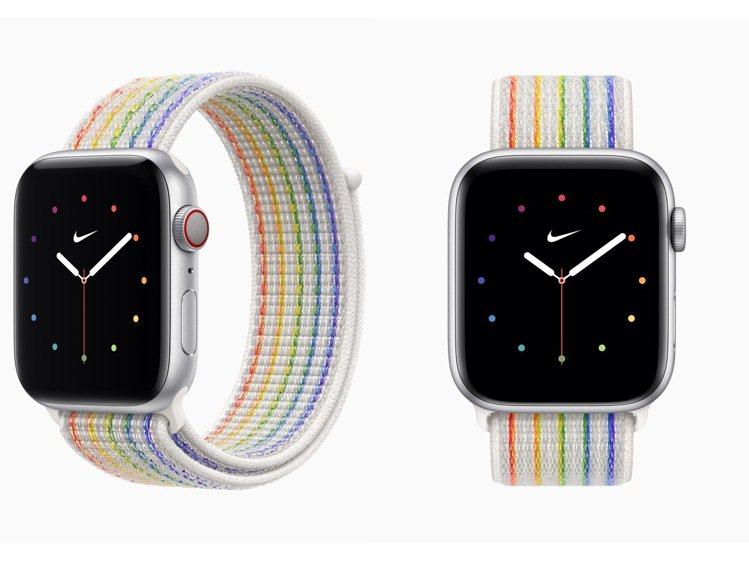 Nike運動型表環的彩虹版也更新,呈現出傳統的彩虹色彩,並利用反光紗線為夜間從事...