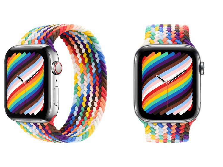 彩虹版編織單圈表環巧妙地將原始彩虹色和來自各種驕傲旗幟的顏色交織在一起,呈現出L...