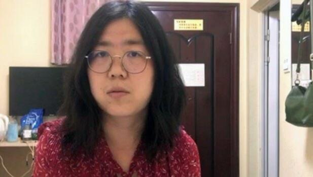 2020年12月28日,上海浦東新區法院以「尋釁滋事罪」判張展有期徒刑4年。(中...