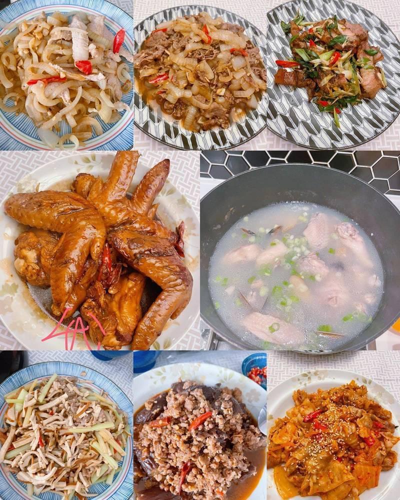 林心如防疫期間在家大展廚藝。圖/摘自臉書